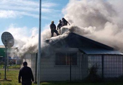 Incendio destruyó oficina del Registro Civil en Puerto Saavedra